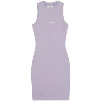 Textil Mulher Vestidos curtos Sixth June Robe femme  Rib Essential bleu lila