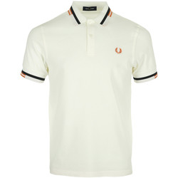 Textil Homem T-shirts e Pólos Fred Perry Abstract Tipped Polo Shirt Branco
