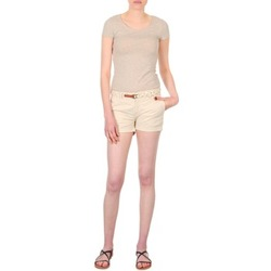 Textil Mulher Shorts / Bermudas Franklin & Marshall MACQUARIE Bege