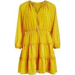 Textil Mulher Vestidos Vila  amarillo