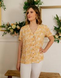 Textil Mulher Tops / Blusas Céleste MESANGE Amarelo / Branco