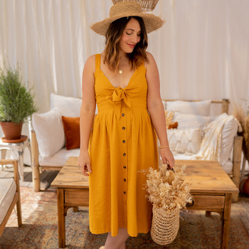 Textil Mulher Vestidos compridos Céleste CAMOMILLE Amarelo