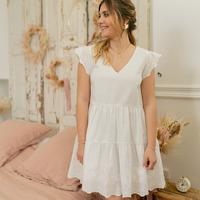Textil Mulher Vestidos curtos Céleste DAHLIA Branco