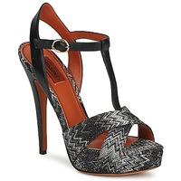 Sapatos Mulher Sandálias Missoni VM034 Preto / Branco