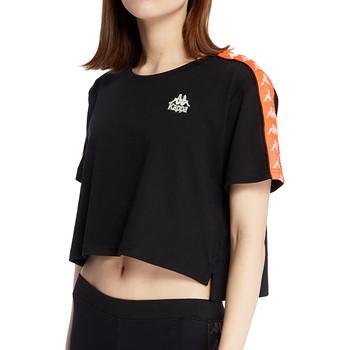 Textil Mulher T-Shirt mangas curtas Kappa  Preto