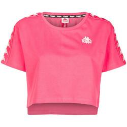 Textil Mulher T-Shirt mangas curtas Kappa  Rosa
