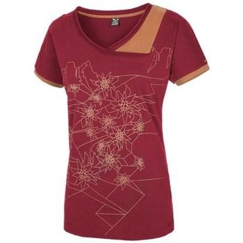 Textil Mulher T-Shirt mangas curtas Salewa 251661651 Cor cereja