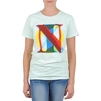 Textil Mulher T-Shirt mangas curtas Nixon PACIFIC Verde