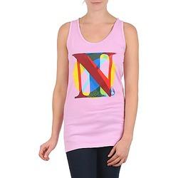 Textil Mulher Tops sem mangas Nixon PACIFIC TANK Rosa / Multicolor