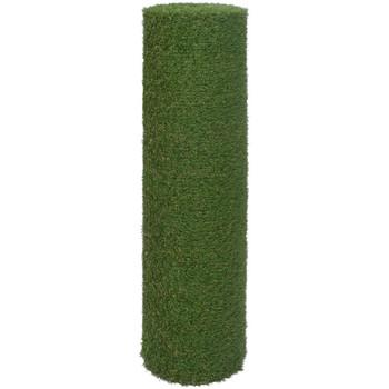 Casa Plantas e Flores Artificiais  VidaXL Relva artificial 0.5 x 5 m/ 20 mm Verde