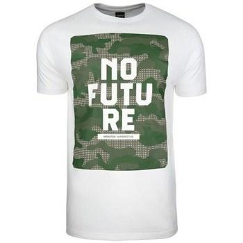 Textil Homem T-Shirt mangas curtas Monotox NO Future Branco