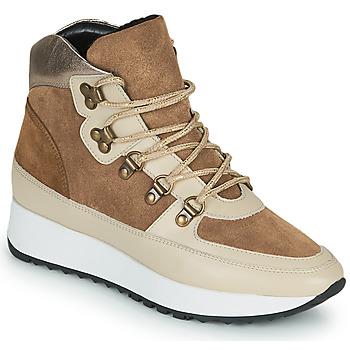 Sapatos Mulher Sapatilhas de cano-alto JB Martin COURAGE Castanho