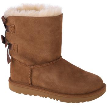 Sapatos Criança Botas baixas UGG Bailey Bow II Kids Marron