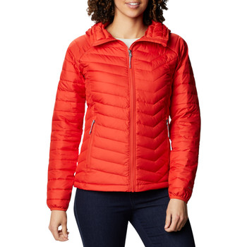 Textil Mulher Quispos Columbia Wm Powder Lite Hooded Jacket Rouge