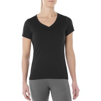 Textil Mulher T-Shirt mangas curtas Asics Esnt SS Top Hex Tee Noir