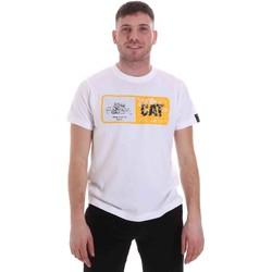 Textil Homem T-Shirt mangas curtas Caterpillar 35CC302 Branco