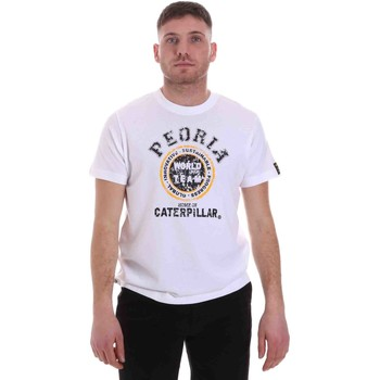 Textil Homem T-Shirt mangas curtas Caterpillar 35CC301 Branco