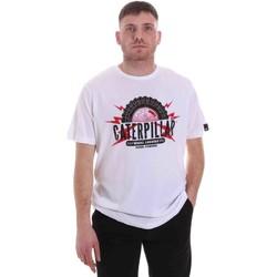 Textil Homem T-Shirt mangas curtas Caterpillar 35CC2510232 Branco