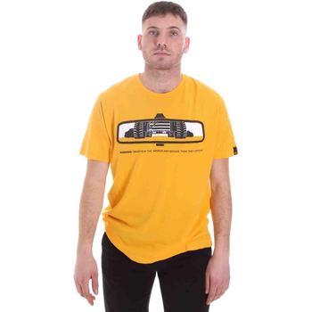 Textil Homem T-Shirt mangas curtas Caterpillar 35CC2510234 Amarelo
