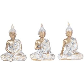 Casa Estatuetas Signes Grimalt 3 Buddhas Diferentes, Em Setembro 3U Blanco