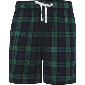 Textil Homem Shorts / Bermudas Skinni Fit SFM82 Cheque da Marinha/Verde