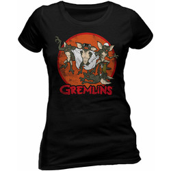 Textil Mulher T-Shirt mangas curtas Gremlins  Preto