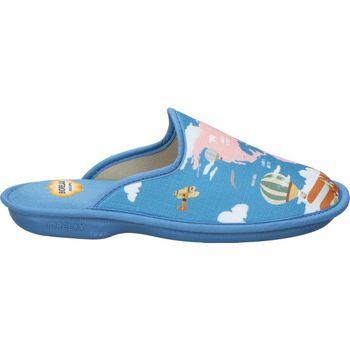 Sapatos Mulher Chinelos Cosdam Z. DE CASA  4046 SEÑORA AZULON Bleu