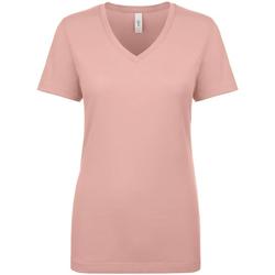 Textil Mulher T-Shirt mangas curtas Next Level NX1540 Rosa do Deserto