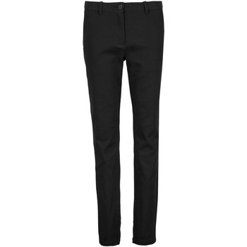Textil Mulher Chinos Sols GUSTAVE WOME Negro profundo