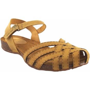 Sapatos Mulher Sandálias Interbios Sandália de senhora  4479 mostarda Amarelo