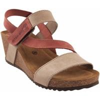 Sapatos Mulher Sandálias Interbios Sandália de senhora  5635 bege Vermelho