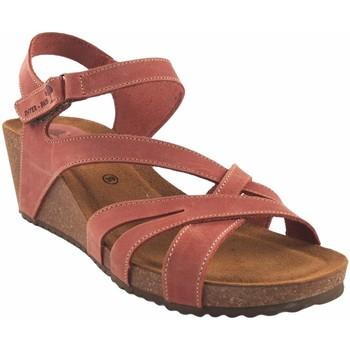 Sapatos Mulher Sandálias Interbios Ladrilho de sandália de senhora Vermelho
