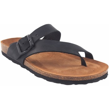 Sapatos Mulher Chinelos Interbios Sandália feminina  7119 preta Preto