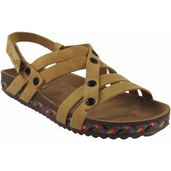 Sapatos Mulher Sandálias Interbios Sandália de senhora  7200-c mostarda Amarelo