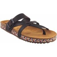 Sapatos Mulher Chinelos Interbios Sandália de senhora  7121-c marrom Castanho