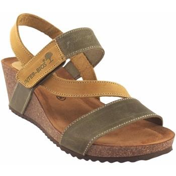 Sapatos Mulher Sandálias Interbios Sandália de senhora  5635 kaki Amarelo