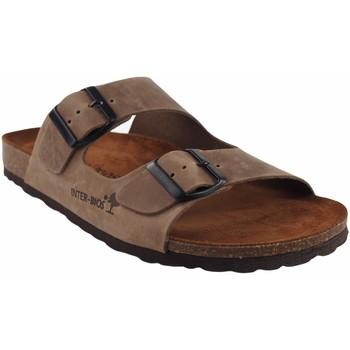 Sapatos Homem Chinelos Interbios Sandália masculina  9560 taupe Castanho