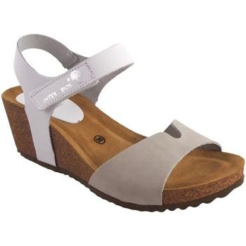 Sapatos Mulher Sandálias Interbios Sandália de senhora  5649 branco cinza Cinza
