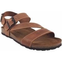 Sapatos Homem Sandálias Interbios Sandália masculina  9557 em couro Castanho