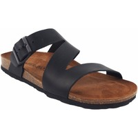 Sapatos Homem Chinelos Interbios Sandália masculina  9553 preta Preto