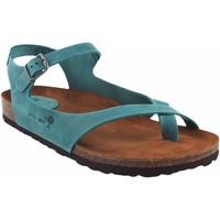 Sapatos Mulher Sandálias Interbios Sandália feminina denim Azul