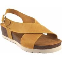 Sapatos Mulher Sandálias Interbios Sandália de senhora  5656 mostarda Amarelo