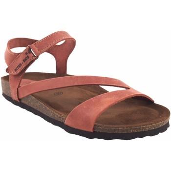 Sapatos Mulher Sandálias Interbios Ladrilho de  senhora  7219 Vermelho