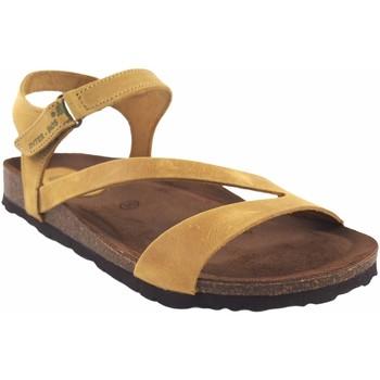 Sapatos Mulher Sandálias Interbios senhora  7219 mostarda Amarelo