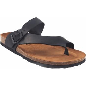 Sapatos Homem Sandálias Interbios Sandália masculina  9511 preta Preto