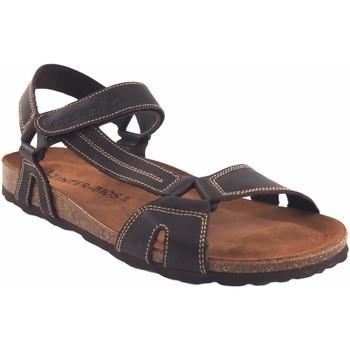 Sapatos Homem Sandálias Interbios Sandália masculina  9562 marrom Castanho