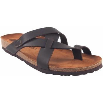 Sapatos Homem Chinelos Interbios Sandália masculina  9513 marrom Castanho