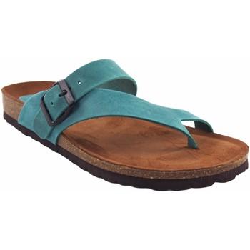 Sapatos Mulher Chinelos Interbios Sandália feminina denim Azul