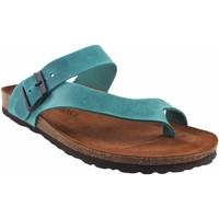 Sapatos Homem Chinelos Interbios Sandália masculina  9511 denim Azul
