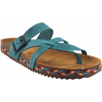 Sapatos Mulher Chinelos Interbios Sandália feminina  7121-c Castanho
